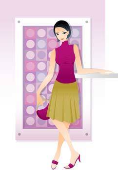 free vector Beautiful Urban Girl 4