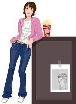 Jeans Girl Vector 4