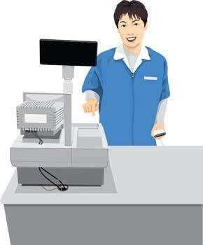 free vector Supermarket officer 1