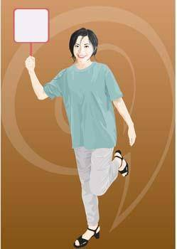 free vector Girl carrier board 6