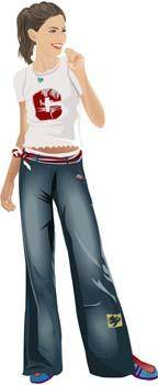 free vector Jeans Girl Vector 13
