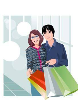 free vector Shopping vector 9