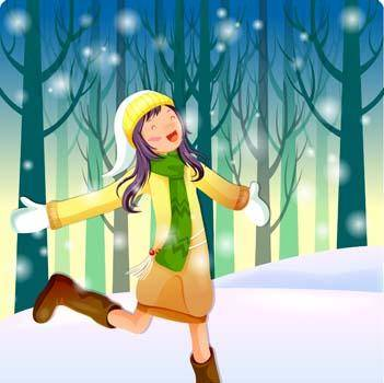 free vector Beautiful sexy winter girl 9