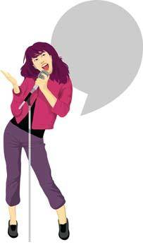 free vector Singing 5