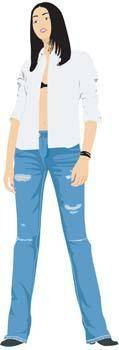 free vector Jeans Girl Vector 7