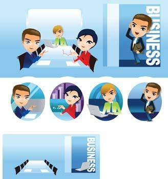 free vector Business people 1