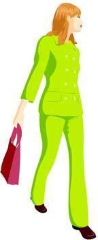 free vector Shopping girl 10