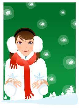 free vector Beautiful sexy winter girl 1