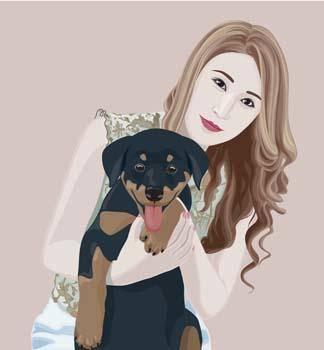 Girl and dog 7
