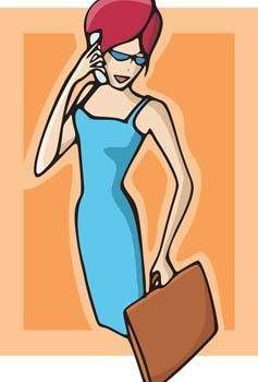 free vector Girl with phone 19