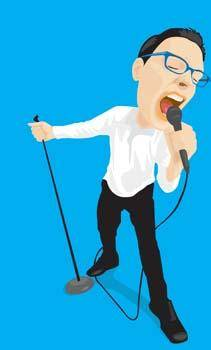 free vector Singing 11