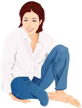 free vector Jeans Girl Vector 25