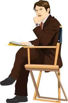 free vector Sit man position vector 3