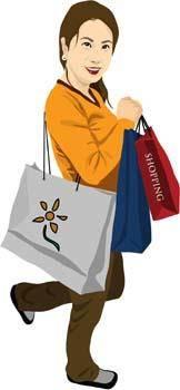 free vector Shopping girl 11