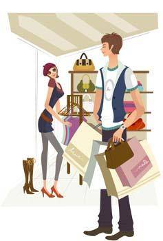 free vector Shopping vector 3