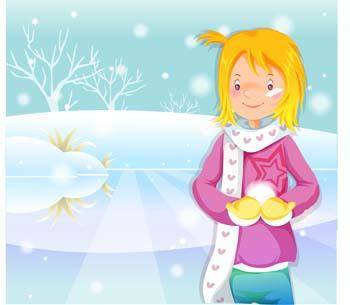 free vector Beautiful sexy winter girl 10