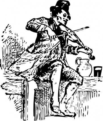Fiddler clip art