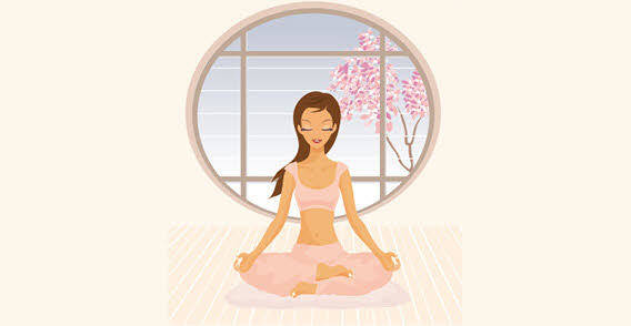 Yoga girl vector graphics