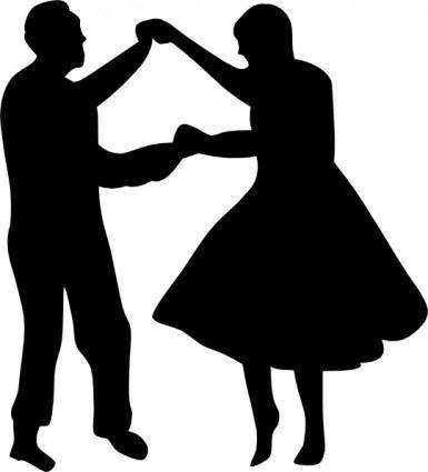 Dancing Couple Fifties clip art