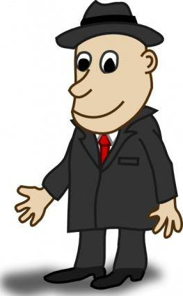 Comic Characters Businessman clip art