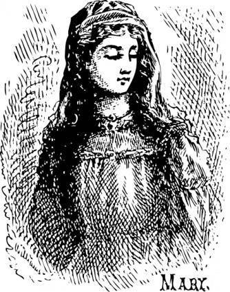 Mary clip art