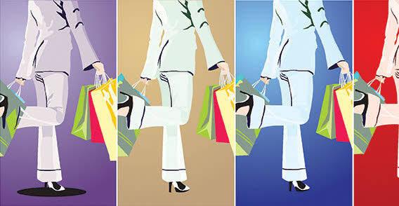 free vector Shopping Girl