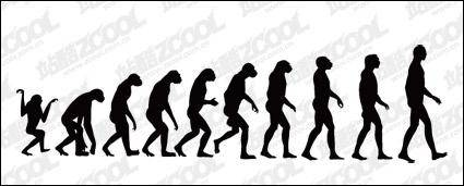 free vector The course of human evolution vector material