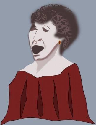 Choral Singer clip art