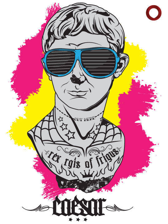 free vector Tattooed Caesar