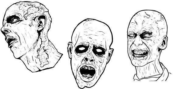 free vector Zombie face free vectors