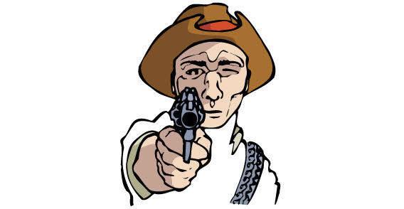 free vector Cowboy with the gun