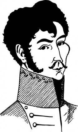free vector Simon Bolivar clip art