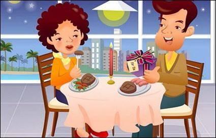 IClickart Cartoon Family illustrator vector material -16