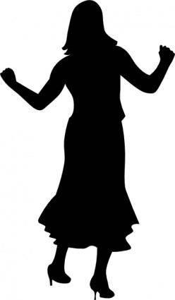 Dancing Gal clip art