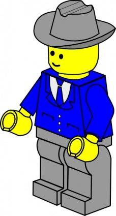 free vector Lego Town Businessman clip art