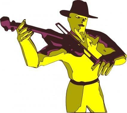 Violoniste clip art