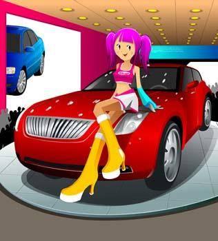Automotive girl 4