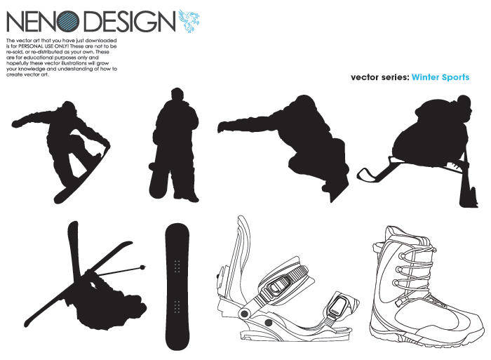 free vector Winter Sports