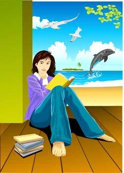free vector Sit girl position vector 2