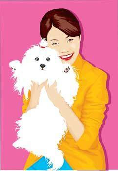 Girl and dog 11