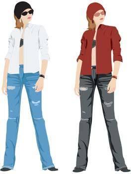 Jeans Girl Vector 18