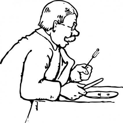 free vector Eating A Pea clip art