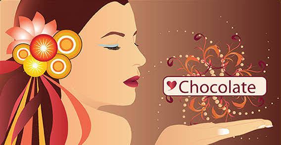 Chocolate woman free vector