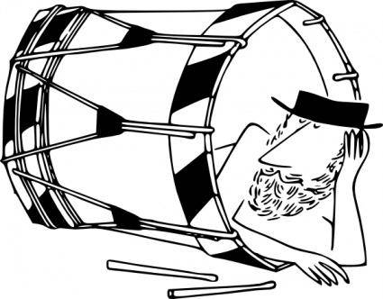 free vector Sleeping In A Basler Drum clip art