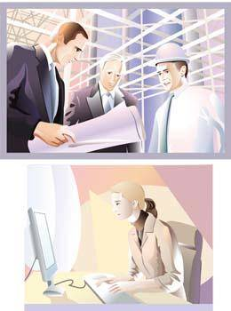 free vector Business people 7