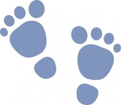 free vector H_foot_print clip art