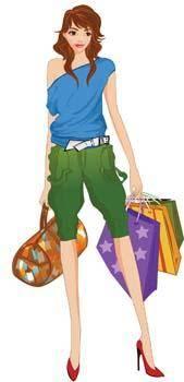 free vector Shopping girl 16