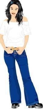 free vector Jeans Girl Vector 16