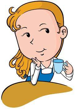 free vector Beautiful Girl with a cup of coffee 21