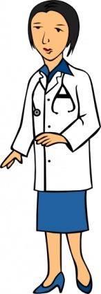 free vector Woman Doctor clip art